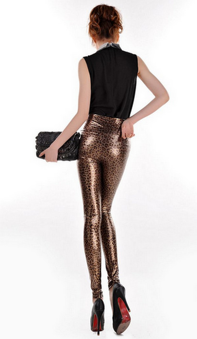 High Waist Leopad Leggings