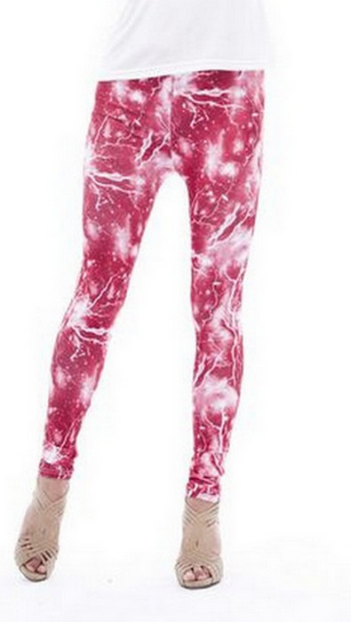 Red Lightning Galaxy Leggings