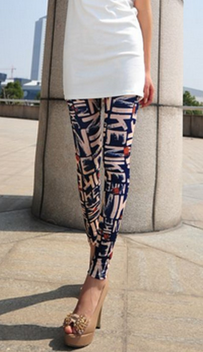 Letter Stamp Tattoo Printing Leggings