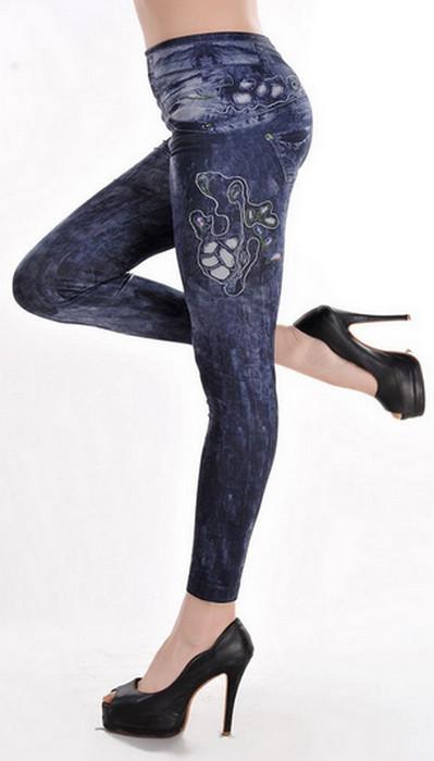 Tatoo Print Jeggings Leggings