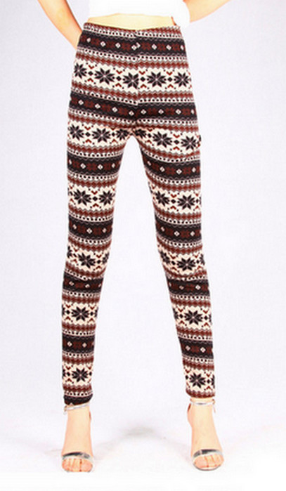 Asterisk Winter Thick Leggings