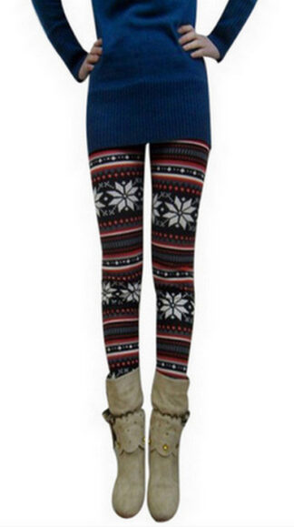 Blom Vinröd Winter Thick Leggings