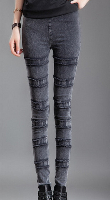 Faux Denim Winter Thick Leggings