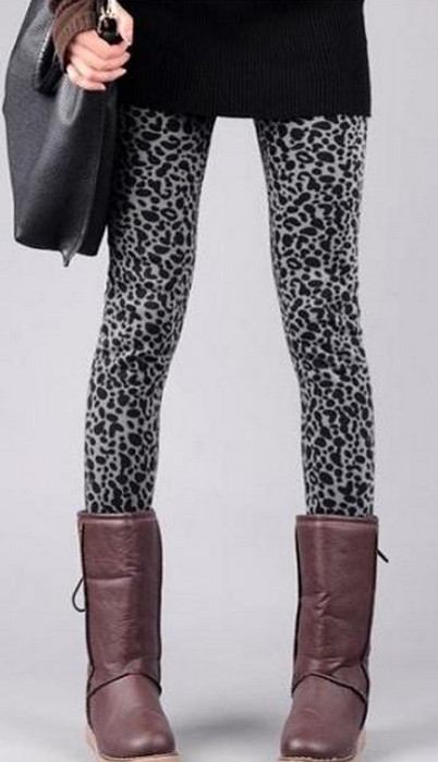 Leopard Winter Thick Leggings