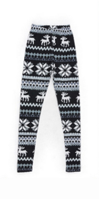 Vit Älg Winter Thick Leggings