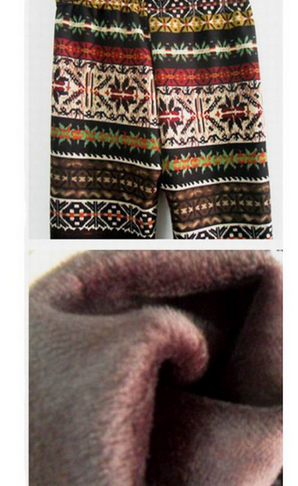 Geometrik Winter Thick Leggings