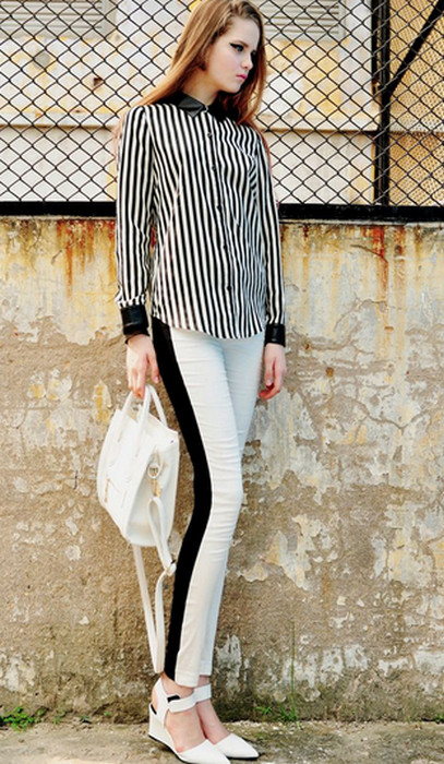 Black and White Leggings