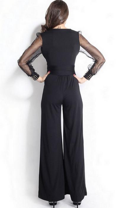 Black Long Sleeves Jumpsuit
