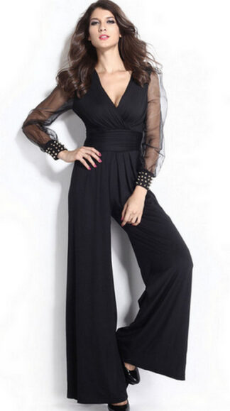 Black Long Sleeves Jumpsuit