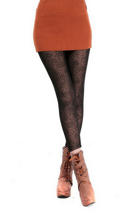 Rose Velvet Winter Thick Leggings
