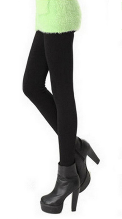 Black Panther Thick Bamboo Fiber Winter Leggings