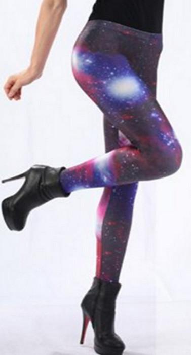 Galaxy Colored Charming Cosmo Leggings