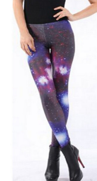 Galaxy Colored Charming Cosmo Leggings