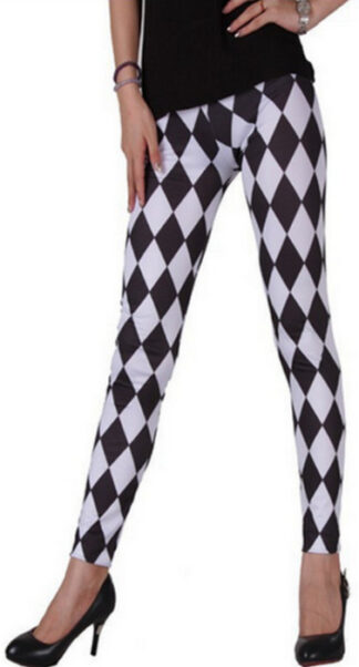 Diamond Black and White Leggings